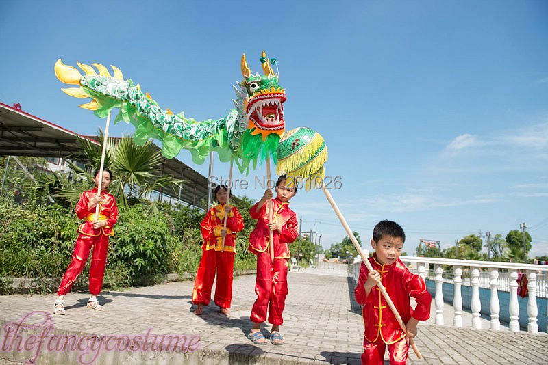 8fe1f525e Aliexpress.com : Buy children size CHINESE DRAGON DANCE 5.5M Folk Festival  Celebration Costume 6 children to play from Reliable dragon dance suppliers  on ...