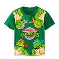 2016 spring and summer cartoon boy child 3 7Y children baby princess short-sleeved T-shirt shirt turtle t-shirt top