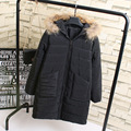 Casual Solid Women Parkas Plus Size 3XL 4XL Loose Faux Fur Trim Hooded Long Parka Coat Black Gray Pink Green Outerwear KK2034