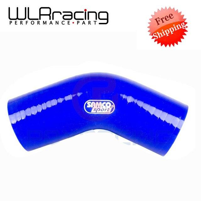 """Prix pour WLRING MAGASIN Livraison gratuite-BLEU 2.0 """"51mm 45 Degrés Coude Silicone Tuyau d'arrosage Turbo Admission WLR-SH4520"""