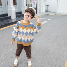2019 Boys Sweater Casual Kids Knitted Pullovers Autumn Long Sleeve Knitwear Warm Winter Outwear Cotton Children Sweaters Pull щипцы atlanta ath 6659