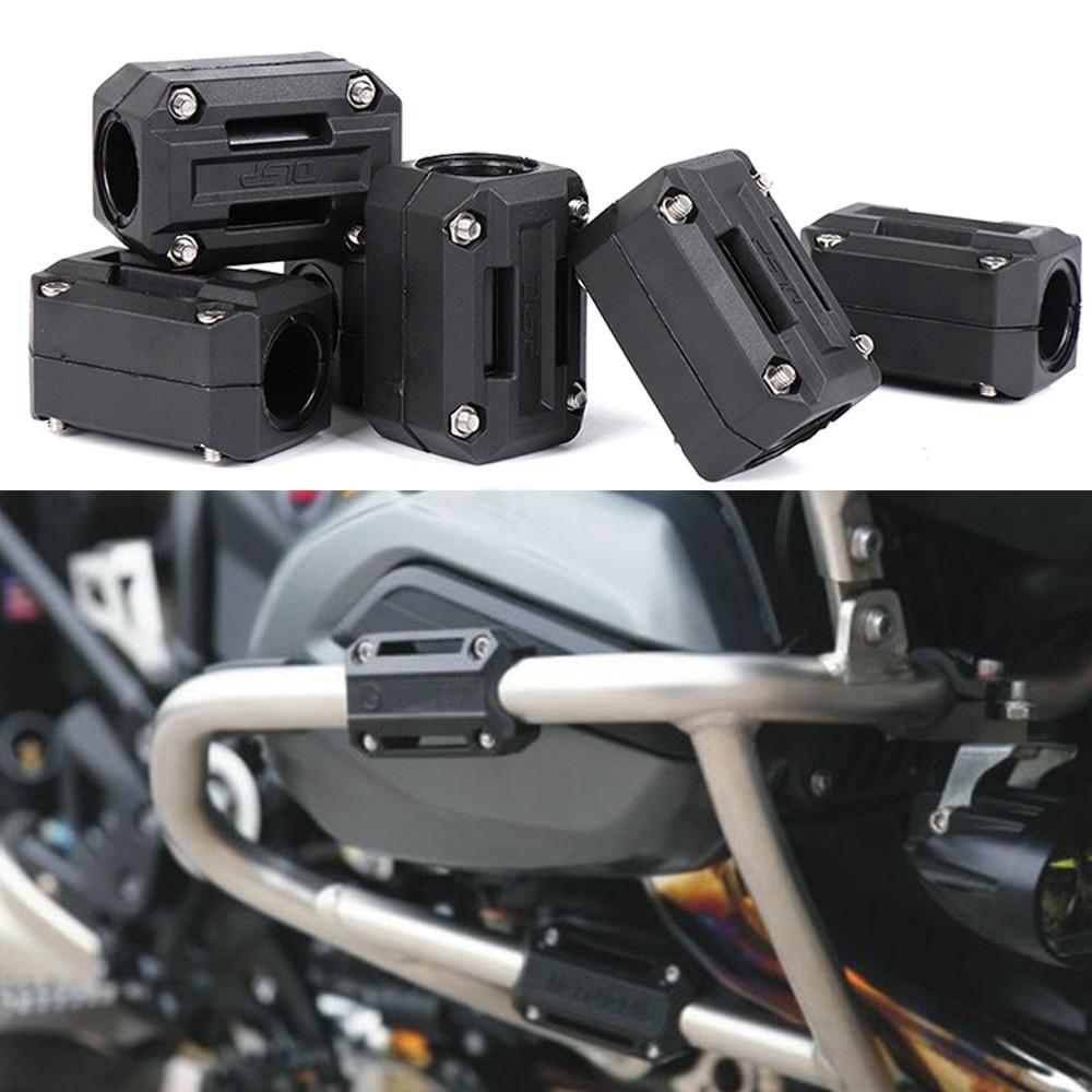 цена Motorcycle Engine Guard Bumper Protection Decorative Block 25mm Crash Bar for BMW R1200GS LC ADV For HONDA CRF1000L For SUZUKI онлайн в 2017 году