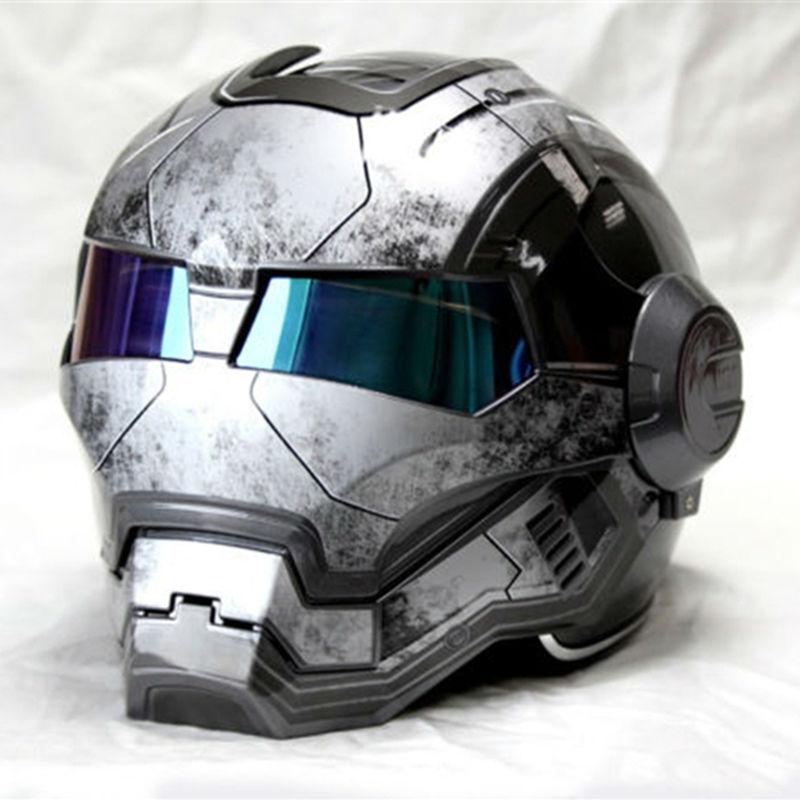 NEW Gray MASEI IRONMAN Iron Man font b helmet b font motorcycle font b helmet b