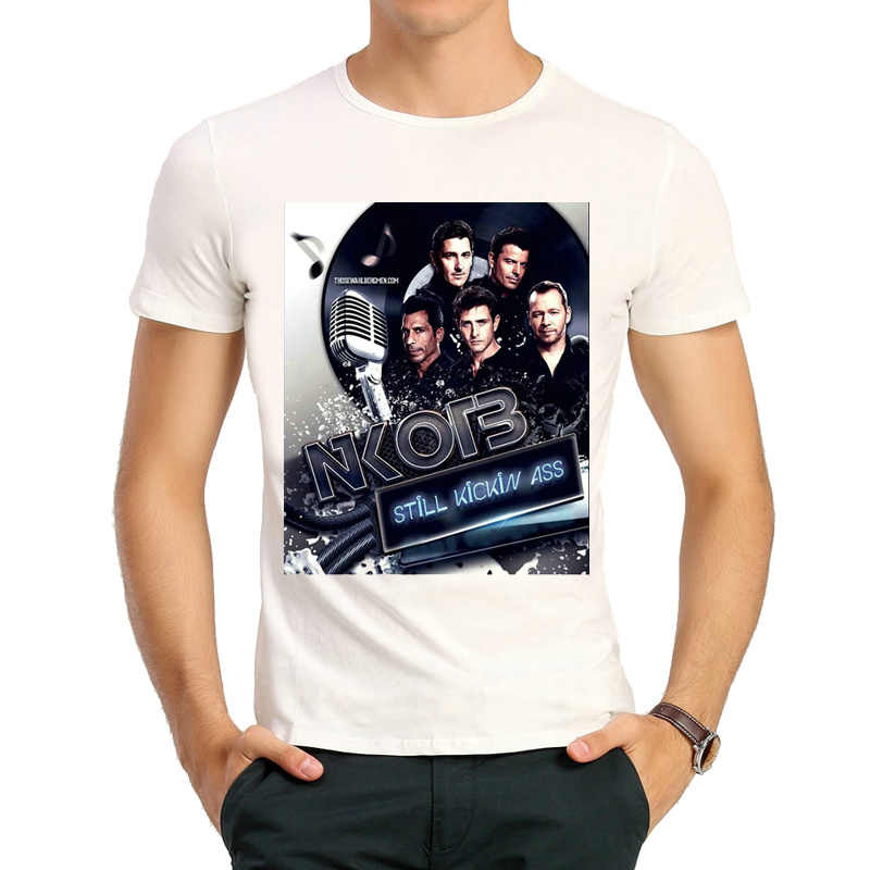 8711fe54 New Kids On The Block T-shirt Mens Fashion Short-sleeve NKOTB New Kids