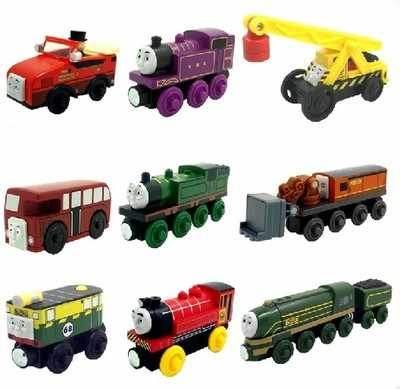 Winston Gordon Victor Whiff Marion Wooden Locomotive Train Compatible with Brio Wooden Train Railway Model Car for Children