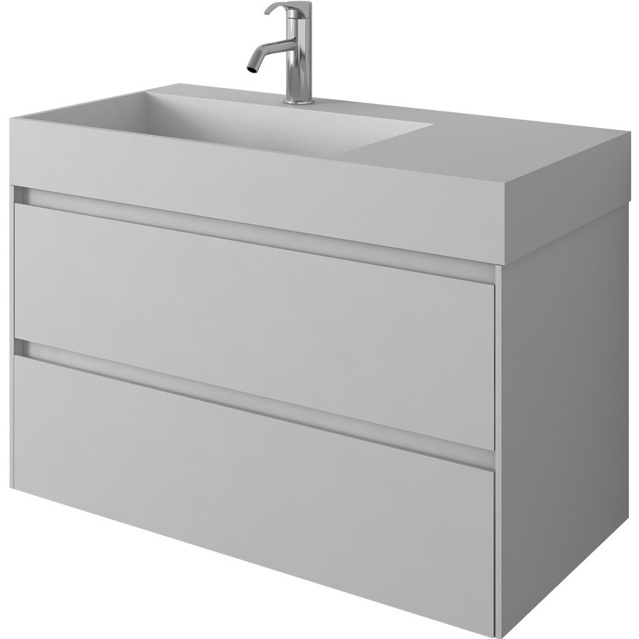900mm Bathroom Furniture Free Standing Vanity Stone Solid Surface Blum Drawer Cloakroom Wall Hung Cabinet 2227