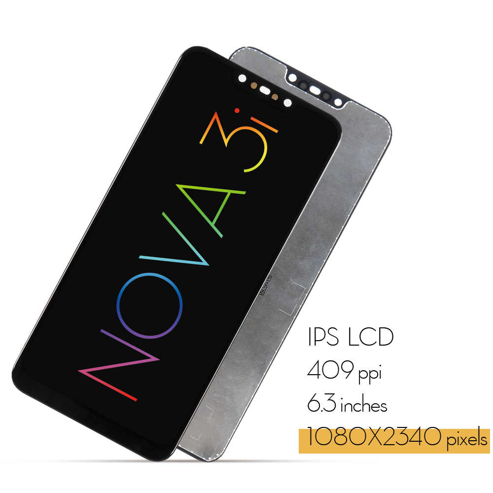 Original LCD For HUAWEI Nova 3 LCD Display Touch Screen Replace For HUAWEI  Nova 3i LCD Nova3 3i Display Replacement parts