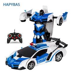 RC автомобиль роботы-трансформеры спортивный автомобиль модель игрушечные роботы Прохладный деформации автомобиля детские игрушки