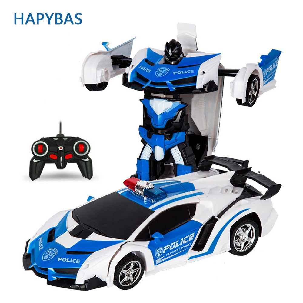 RC Car Transformation Robots Sports Vehicle Model  Robots Toys Cool Deformation Car Kids Toys  Gifts For Boys-in RC Cars from Toys & Hobbies