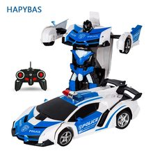 RC Car Transformation Robots Sports Vehicle Model Robots Toys Cool Deformation Car Kids Toys Gifts For Boys(China)