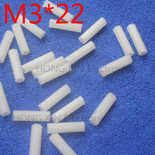 M3*22 22mm 1 pcs white Nylon Hex Female-Female Standoff Spacer Threaded Hexagonal Spacer Standoff Spacer brand new цена