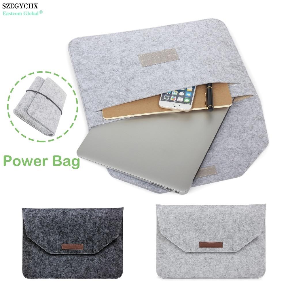 SZEGYCHX Soft Sleeve Bag Case For Apple Macbook Air Pro Retina 11 12 13 15 New Touchbar Laptop Cover For Mac Book 13.3