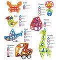 164 unids/set Mini Diseñador Magnético Conjunto Modelo de Construcción y de Construcción de Juguete De Plástico Bloques Magnéticos Juguetes Educativos Para Niños de Regalos