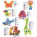 164pcs/set Mini Magnetic Designer Construction Set Model & Building Toy Plastic Magnetic Blocks Educational Toys For Kids Gifts