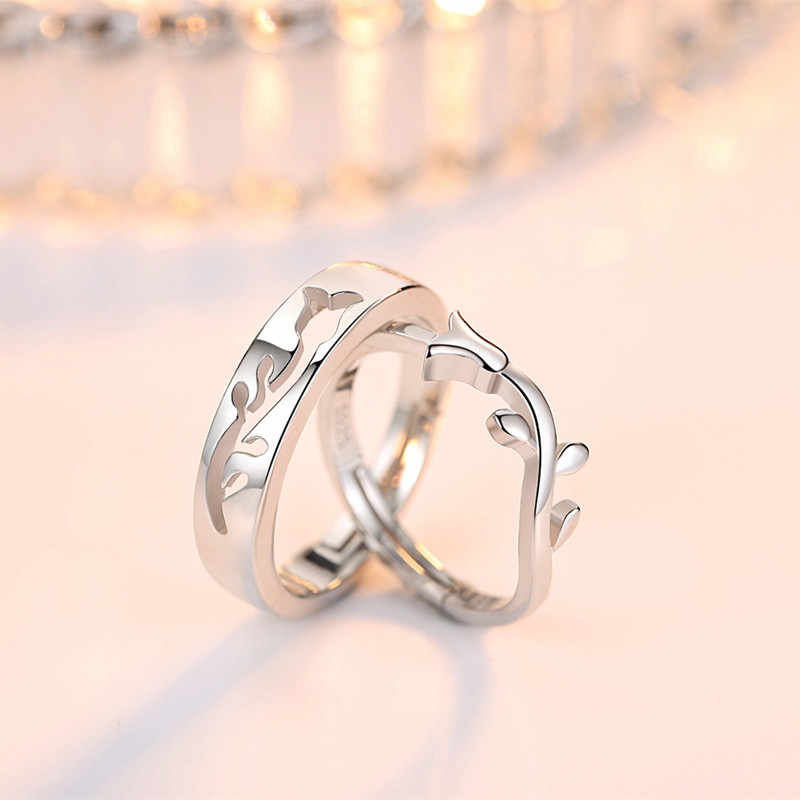 Luxury Brand Men White Set Ring Factory Direct Korean simple Marry Lover Couple 925 Sterling Silver Rings For Women