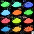 Mezclada 5 colores brillo Luminoso en polvo, 130 g/lote, super brillante fluorescente en polvo, polvo de pigmento Noctilucentes, resplandor en la oscuridad.