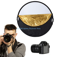 Photography Studio Multi Photo Disc Collapsible Light Reflector 110cm 43″ 5 in 1#