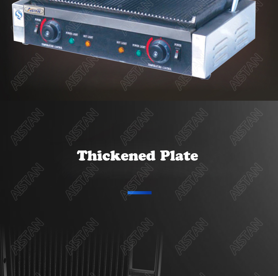 EG811/EG813/EG815 Single/Double Plate Commercial Electric Table Top Panini Grill Machine of Catering Equipment 6