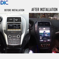 DLC Android System Vertical Screen Car Styling Navigation Gps Player For Lincoln MKC Multifunction System Support