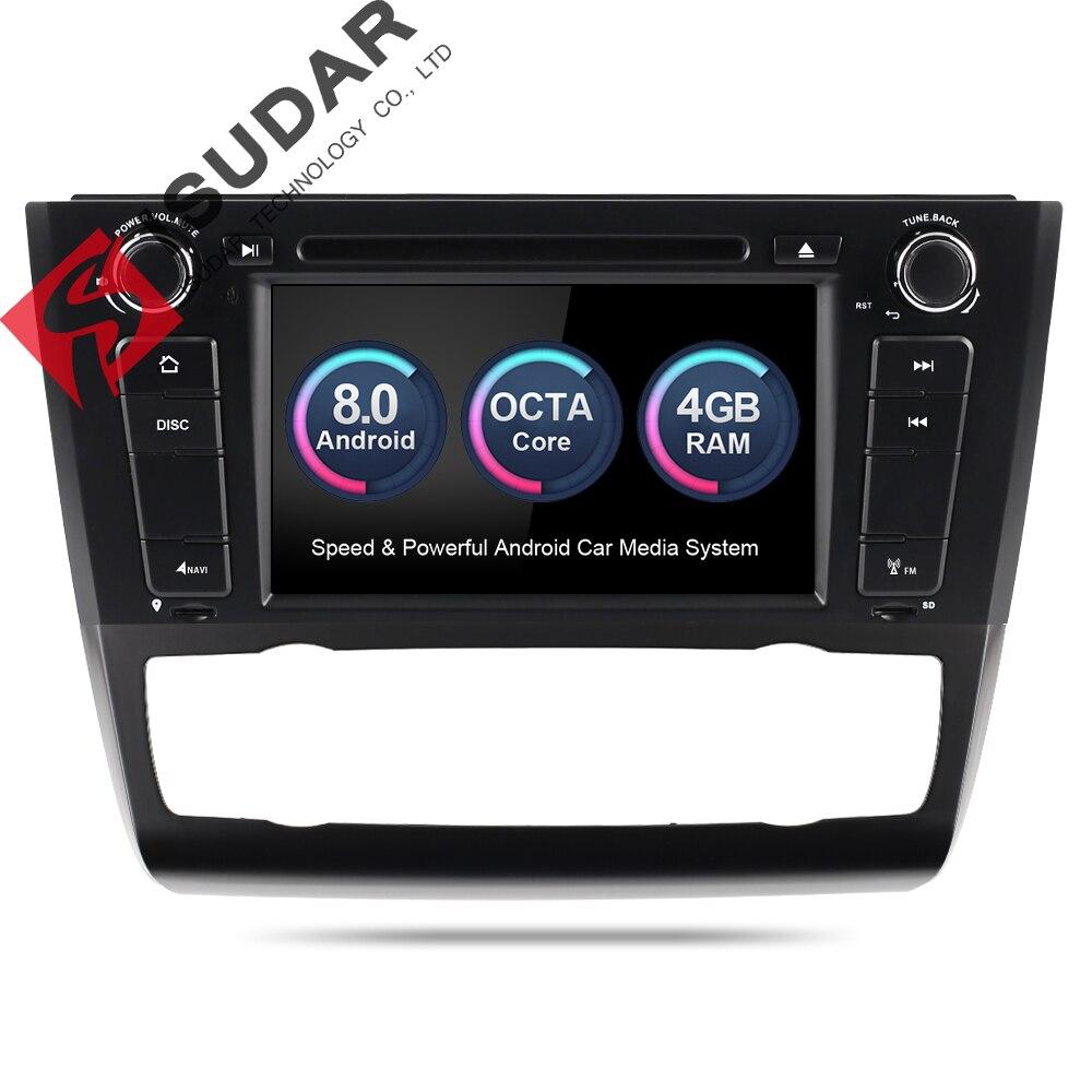 Isudar автомобильный мультимедийный плеер gps Android 8,0 2 Din автомагнитола для BMW/1 серии E81/E82/E88 восьмиядерный радио Wi-Fi заднего вида Камера
