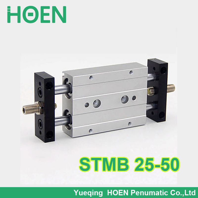 STMB 25-50 HIGH QUALITY Airtac Type Dual Rod Pneumatic Cylinder/Air Cylinder STMB Series STMB25*50 STMB25-50 high quality double acting pneumatic gripper mhy2 25d smc type 180 degree angular style air cylinder aluminium clamps