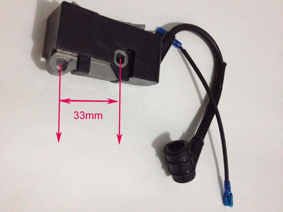 Chainsaw Ignition coil fit Chinese chain saw 4500/5200/5800,45/52/58 Ignition mould spare parts manufacturers 5200 chainsaw cylinder assy cylinder kit 45 2mm parts for chain saw 1e45f on sale