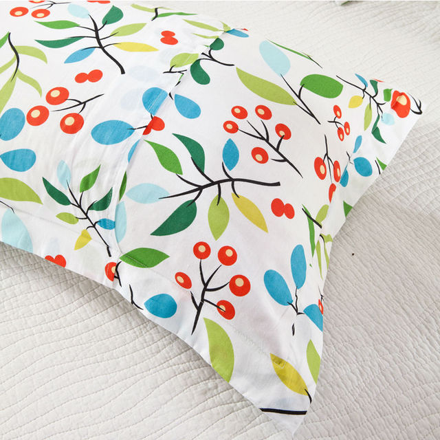 New One /Two Pillow Case 100% Cotton decorative pillowcases Flowers pillow case /capa Printing Brief Style Bedding Set 48x74cm