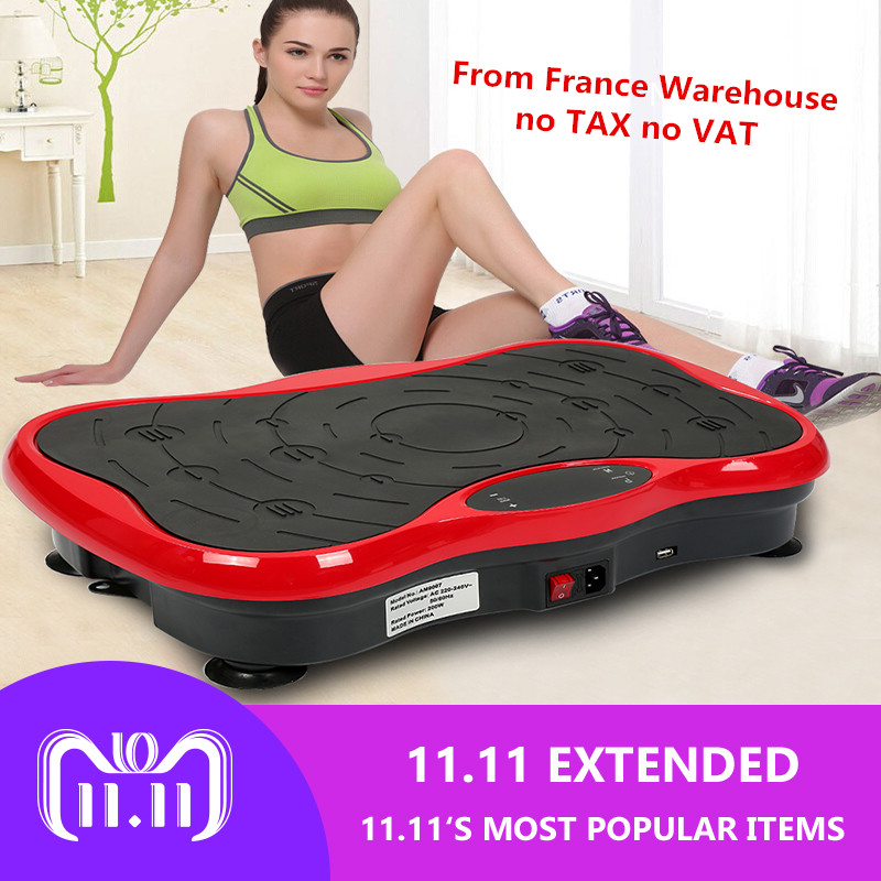 Fitness Equipment Power Fit Electric Vibration Plate fat Burn Machine Exercise Muscle Vibration Plate Massage Body Massager HWC besgo crazy fit massage vibration plate exercise vibration plate machine vibration plate oscillating with music remote