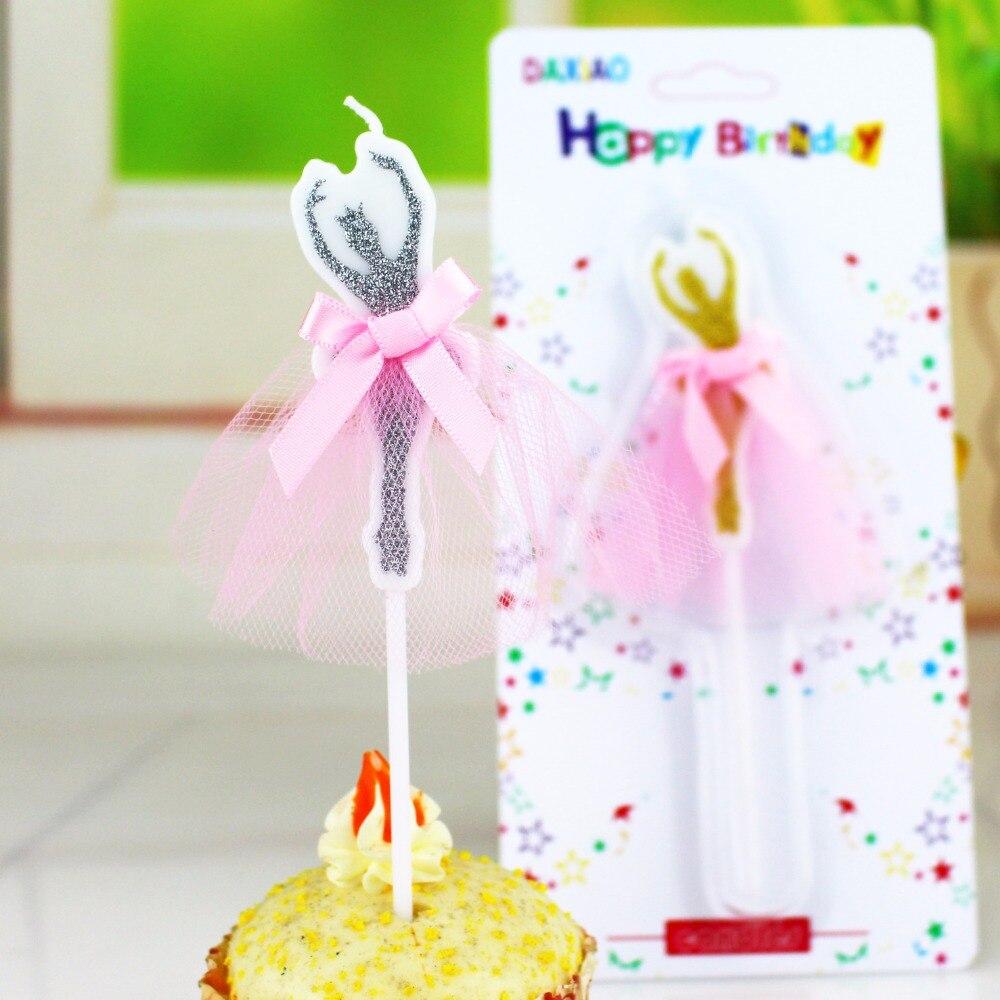 1 Pc Glittering Candle Ballerina Dancer Birthday Wedding Favors ...