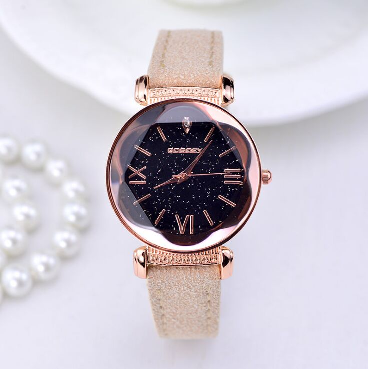Women Rose Gold Leather Watches  1