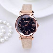 New Gogoey Brand Rose Gold Leather Watches