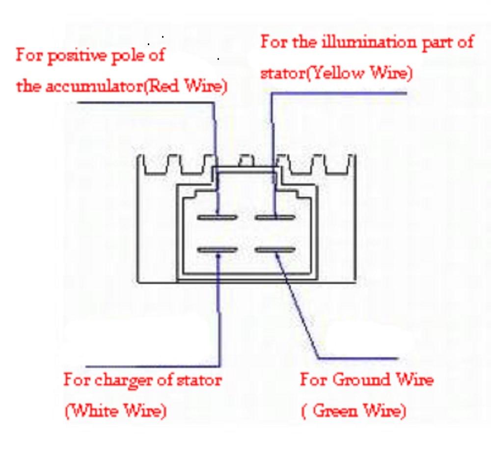 4 pin regulator rectifier wiring diagram arbortech us rh arbortech us Chinese GY6 Wiring-Diagram Chinese ATV Wiring Diagrams