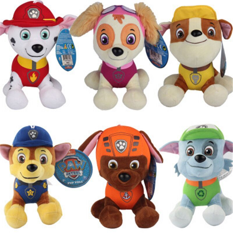 Hot Sell 6 Pcs/Set New Paw Patrol Dog Puppy Anime Stuffed Doll Plush Toys For Children Birthday Gifts