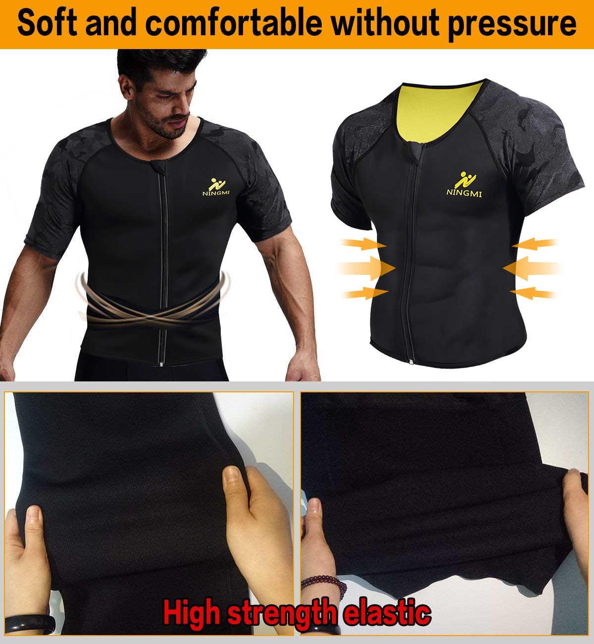 SEXYWG Sport Top Slimming Waist Trainer Neoprene Sauna Vest Weight Loss Body Shaper Yoga Shirt with Zip Mesh Tank Top Shapewear