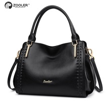 ZOOLER BRAND quality Genuine Leather bag Handbags top handle women bags whole cowhide messenger 2017 new#1119