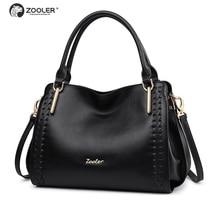 49710a65dc Sacchetti di Cuoio genuini donne ZOOLER sacchetti di mano delle signore del  progettista della borsa della donna borsa a tracolla.