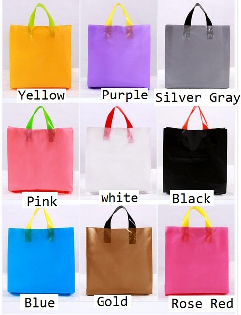 Popular 3 size Personalized plastic gift bag with printing logo Boutique  FY37
