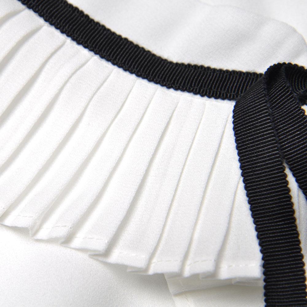 Flare De Mince Lâche Mode Roosarosee Nouveau Dame Costume Whtie Deux Robe Chemise D'été Bleu Manches Foncé Plissée Blanche Rouge Bureau Ensemble Pièces Blue qwtpxzqS
