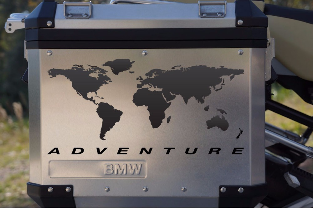 Motorcycle Decal World Adventure for Touratech Pannier
