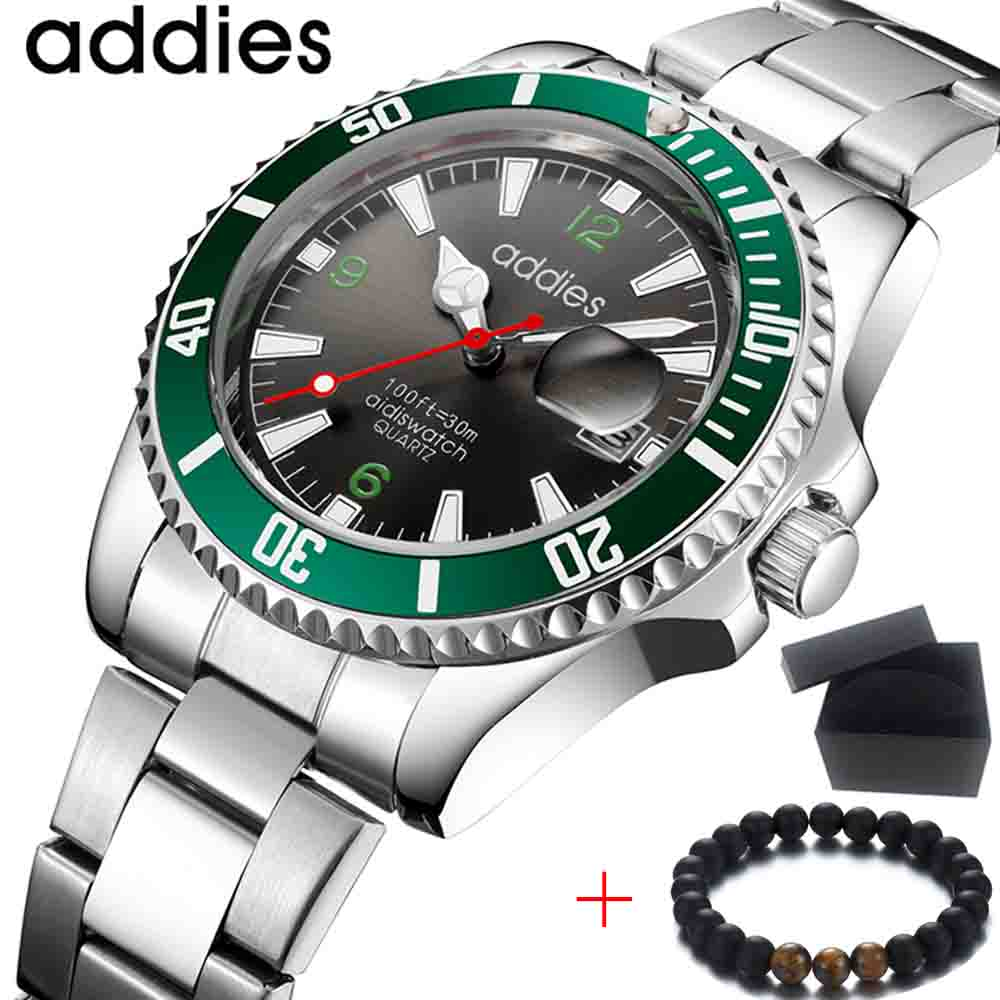 Relojes Hombre 2018 New Aidis Mens Watches Top Brand Luxury Full Steel Business Quartz Watch Men Military Sport Waterproof Clock цена