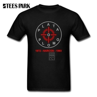 Concert T Shirts Plata O Plomo Narcos Pablo Escobar Homem Crew Neck Short Sleeve T Shirts