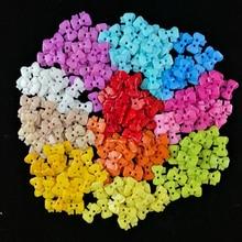 Полимерная пуговица для шитья, бант, ручка, кнопка, цветная, окрашенная, пластиковая, мультфильмы, пуговицы, пальто, сапоги, швейная одежда, аксессуары, 18*14 мм