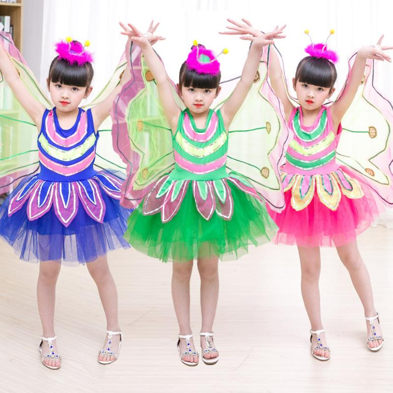 Vestidos Mujer Trolls 2019 Girl Tutu Dress Butterfly Costume Fairy Birthday Party Cosplay With Wings For Holidays Perform 2-10y