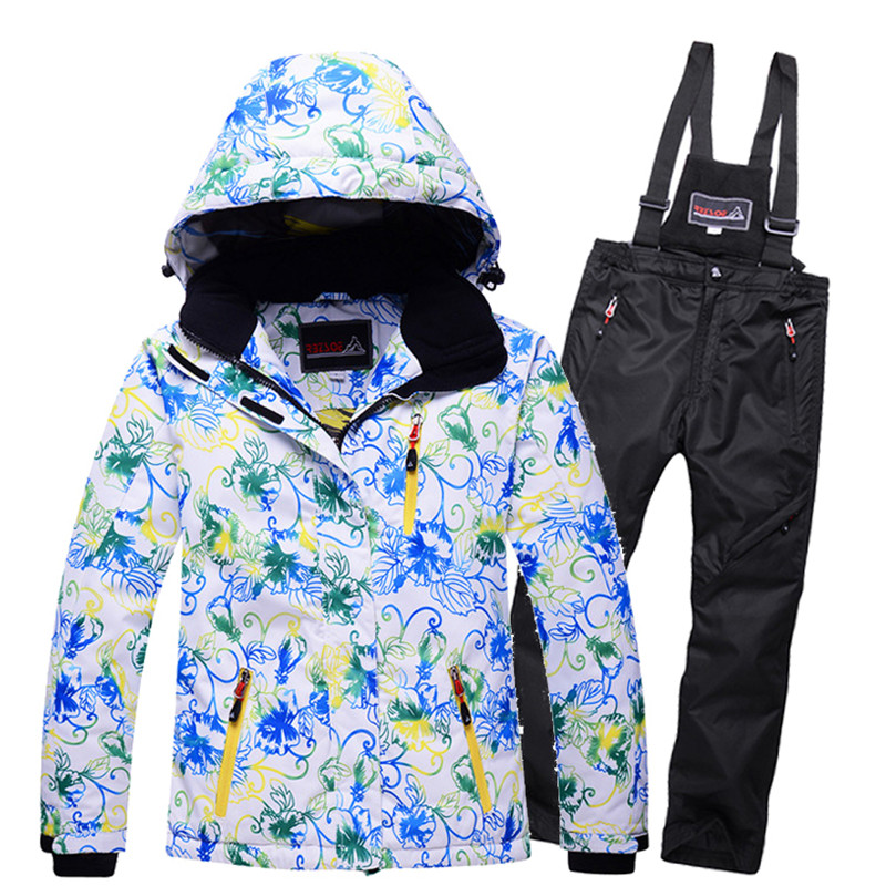 New Pattern 2018 Boys Girls Ski Suit Waterproof Windproof Snow Pants+Jacket Set Winter Sports Child Thickened Clothes Set girls or boys waterproof ski suit kids ski jacket and children pants snow windproof warmth thickened winter clothes 30 degree