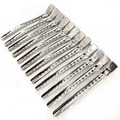 Hair Salon Silver 12PCS/pack Hair Clips Metal Hairdressing Duck Bill Alligator Clips Fashion Styling Tools 12CM
