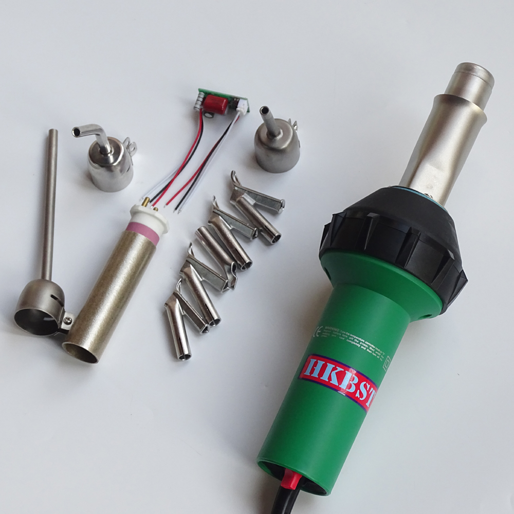 HKBST plastic welder heat gun with 9pcs of accessories include nozzles,spare heat element,spare circuit,etcHKBST plastic welder heat gun with 9pcs of accessories include nozzles,spare heat element,spare circuit,etc