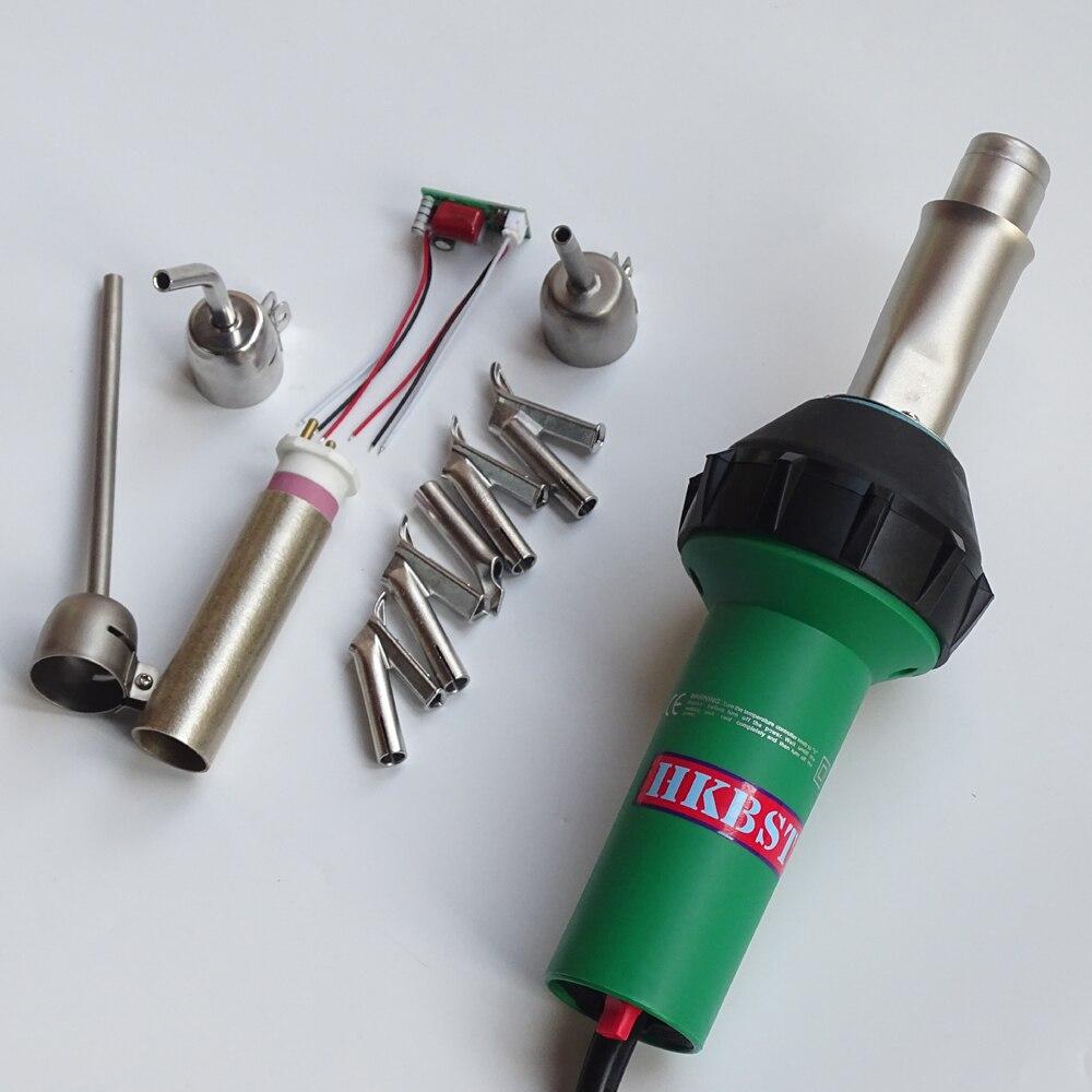 HKBST soldador plástico pistola de ar quente com 9 pcs de acessórios incluem bicos, spare elemento de calor, circuito de reposição, etc