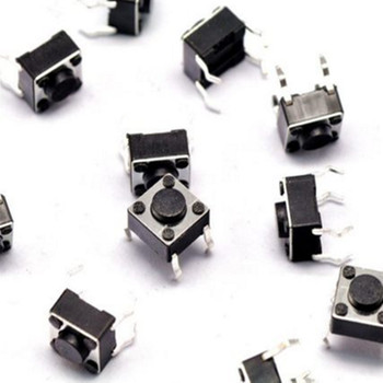 100pcs 6*6*4.3mm Tact Switch Push Button DIP 4 Pin Tactile Push button LCD Screen Monitor 6X6X4.3MM Micro Switch image