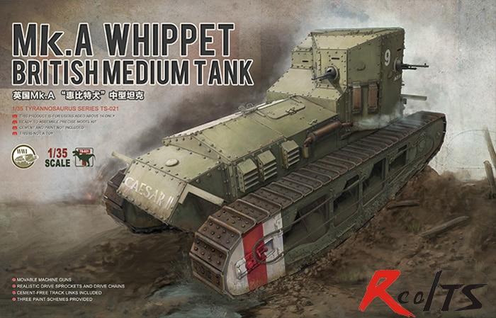 RealTS Meng model TS-021 1/35 British Medium Tank Mk.A Whippet realts meng model 1 35 ts 014 t 90 russian main battle tank w tbs 86 tank dozer instock