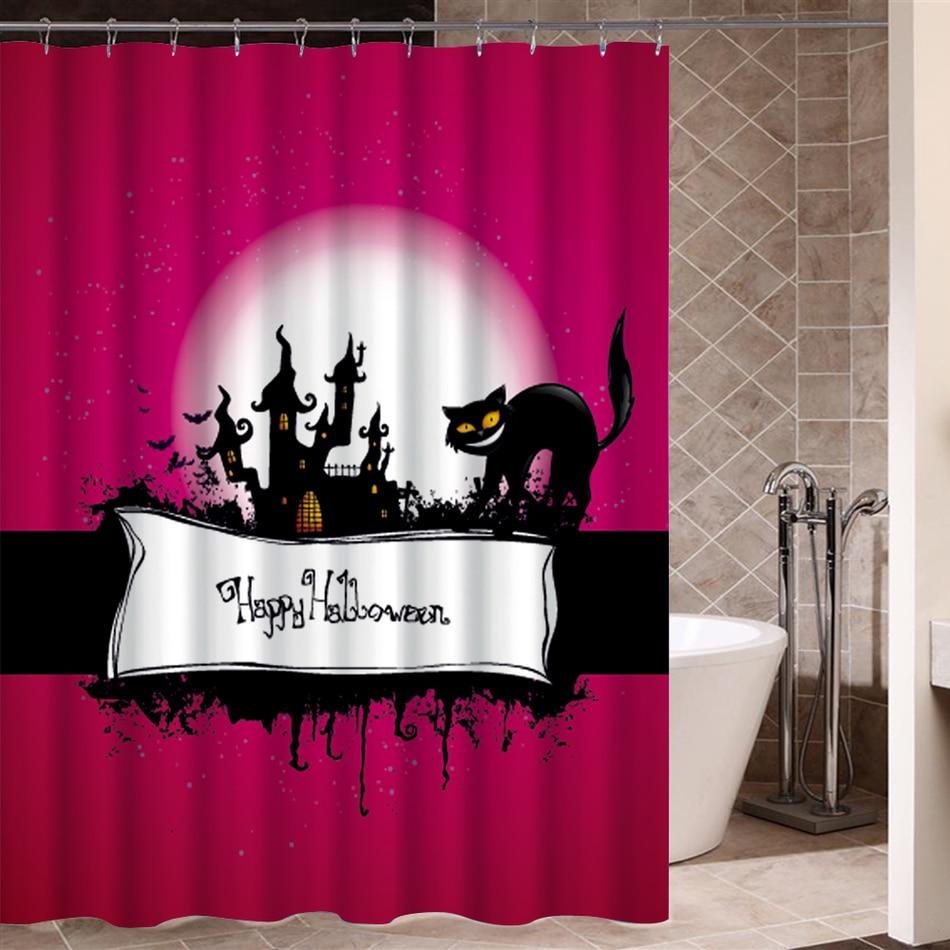 Halloween shower curtain - Bath Curtain Halloween Creepy Decorations Waterproof Shower Curtain Washable Bathroom Window Horror Product Beautiful Design